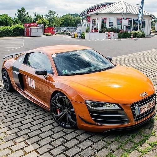 Orange R8 #Cars #Horsepower #Audi @n17dg