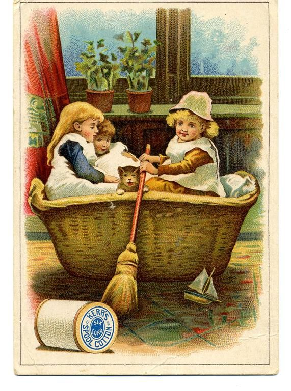 TC Kerr s Cotton Thread vintage advertising card