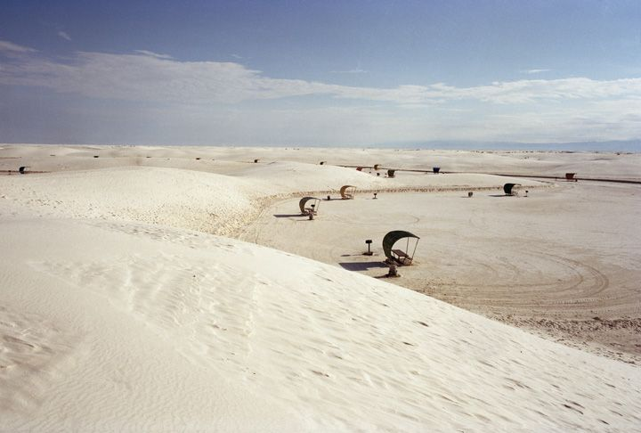 Sand dunes and picnic tables | Millennium Images Library