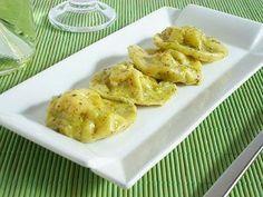 Tortelli di patate e taleggio con pesto di pistacchi