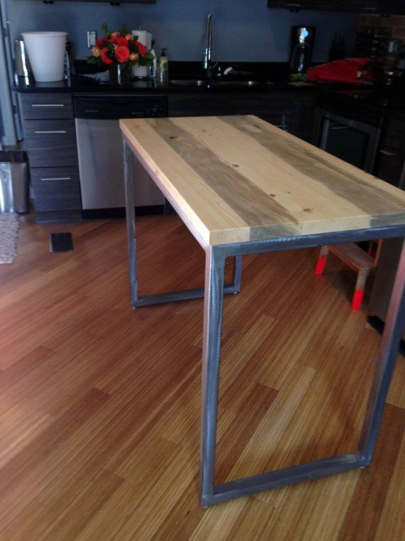 Modern counter height table by jacDesignCo on Etsy, $575.00