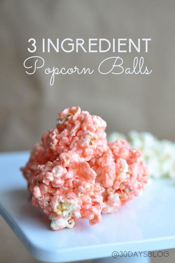 Easiest Popcorn Balls Ever! Only 3 ingredients. They take no time to make and taste great.  Must try!