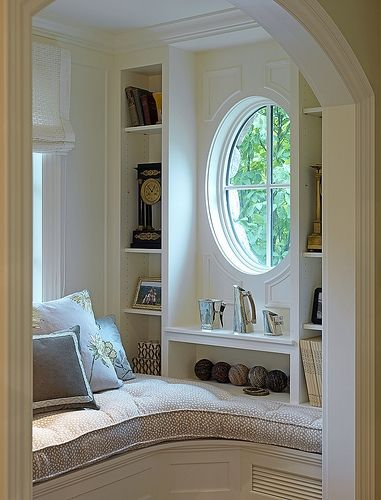 Cozy reading nook - I want this!
