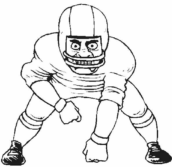 Sport Football Player Coloring Pages | Day Care ...