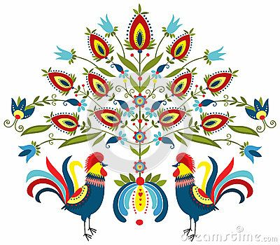 Embroidery roosters by Bridzia, via Dreamstime