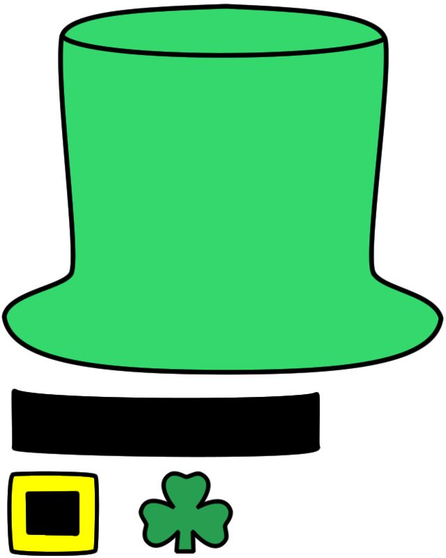 Leprechaun Hat - Paper craft (Color Template) | Crafts ...