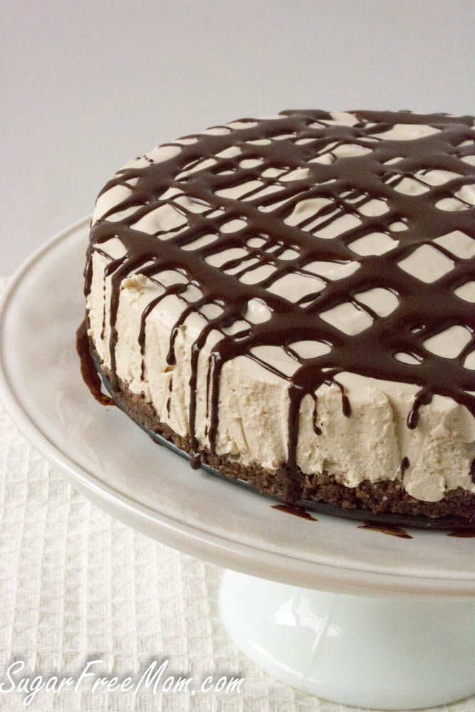 No Bake Sugar Free Gluten Free Coffee Cheesecake  low carb  grain free too