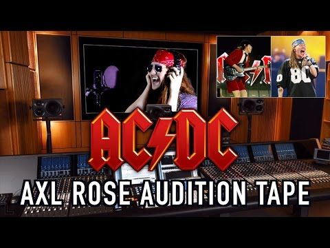 Axl Rose Auditions For AC/DC! - YouTube