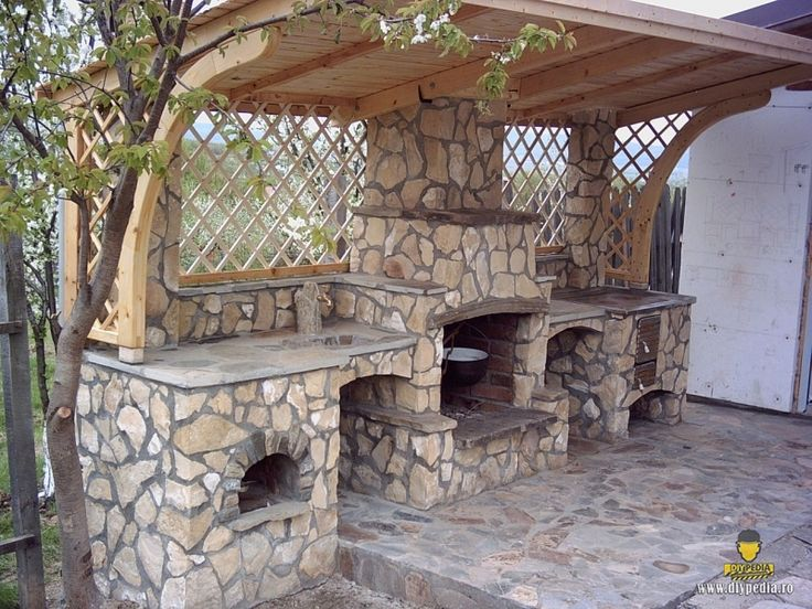 Constructie Gratar placat cu piatra