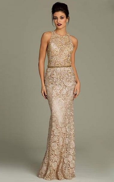 Lace evening dress uk