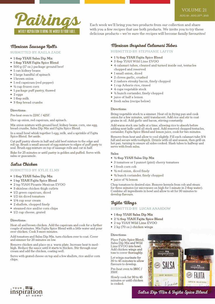 yiah pairing wk 21 recipes