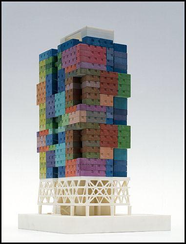 "Mass Studies  ""Missing Matrix Building, Seoul"", 2004-08  Courtesy of Deutsches Architekturmuseum"