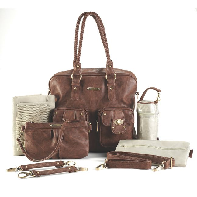 Timi And Leslie Rachel Satchel Diaper Bag - Caramel from babycubby.com