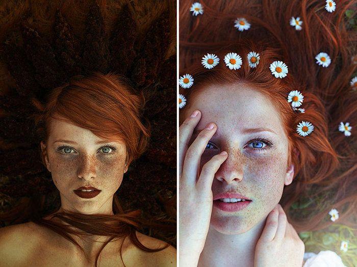 Φλογερές κοκκινομάλες με φακίδες σε εκπληκτικά πορτρέτα  thetoc.gr