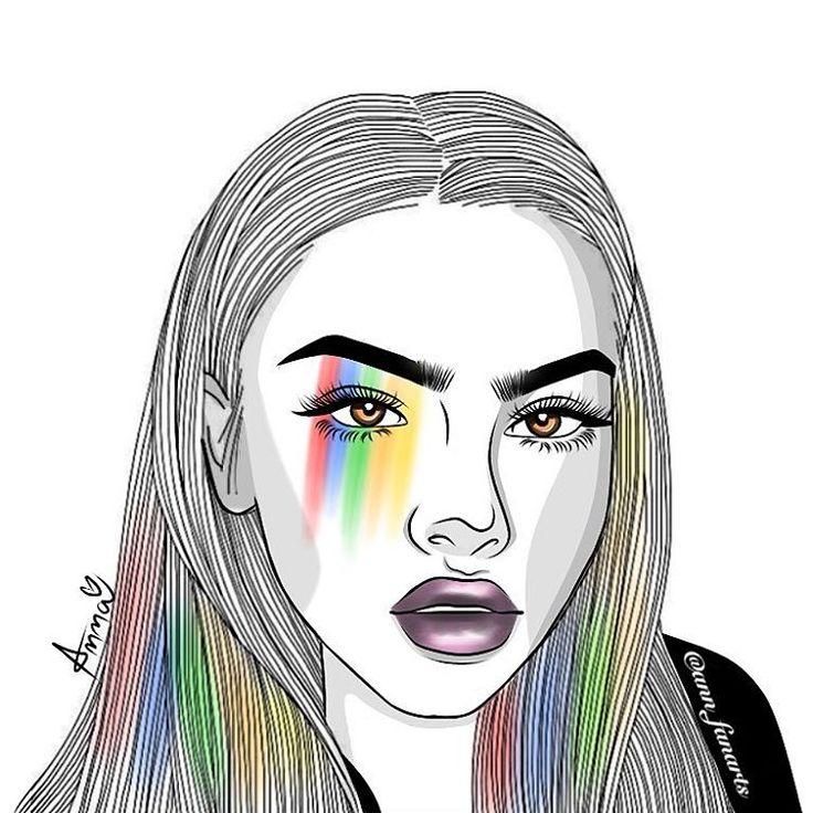Outlines Outline Sketch Eyes Nice Tumblr Girl ...