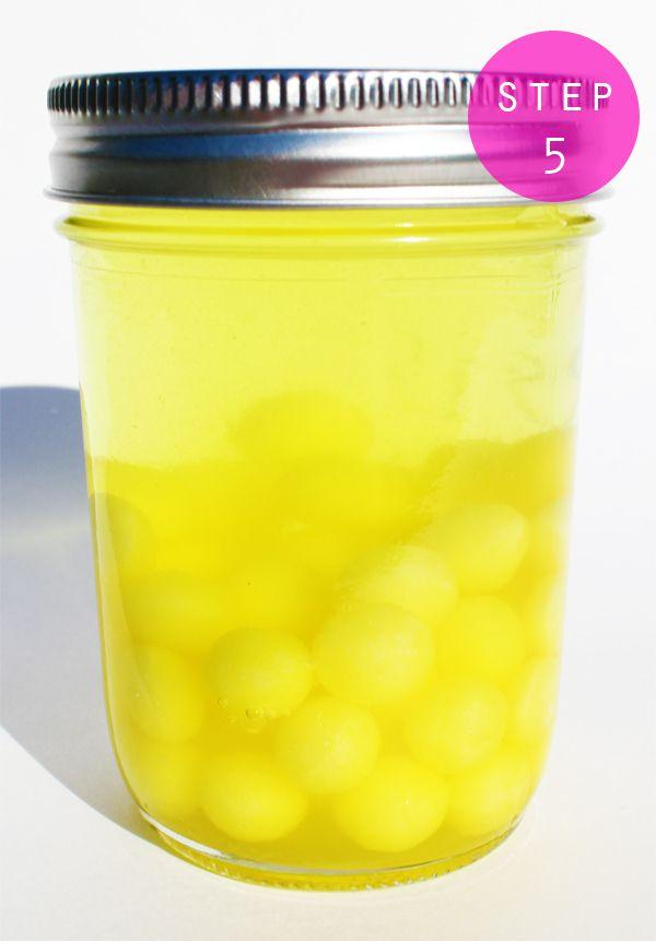 Lemonhead infused vodka.     Use in Lemonhead drop martini