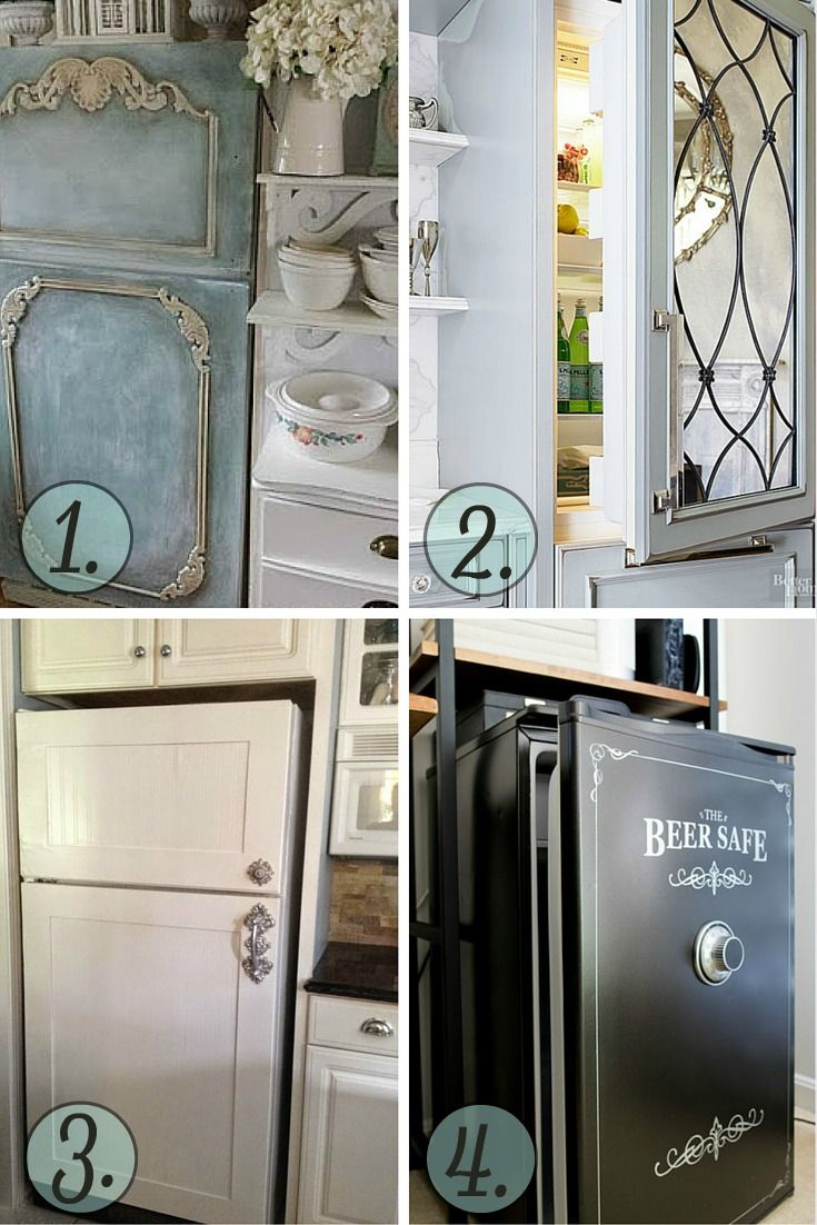 15 Refrigerator Makeovers that will STOP you in your tracks! These are amazing!