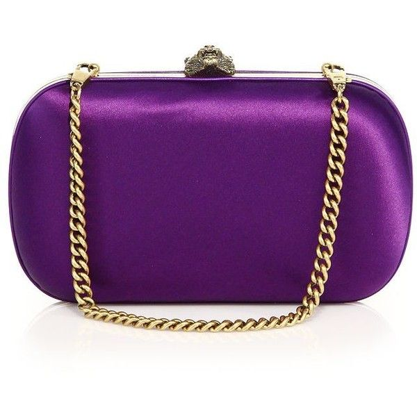 Gucci Broadway Evening Clutch ($1,790) ❤ liked on Polyvore featuring bags, handbags, clutches, apparel & accessories, purple, holiday purses, cocktail purse, purple handbags, special occasion purses and satin purse