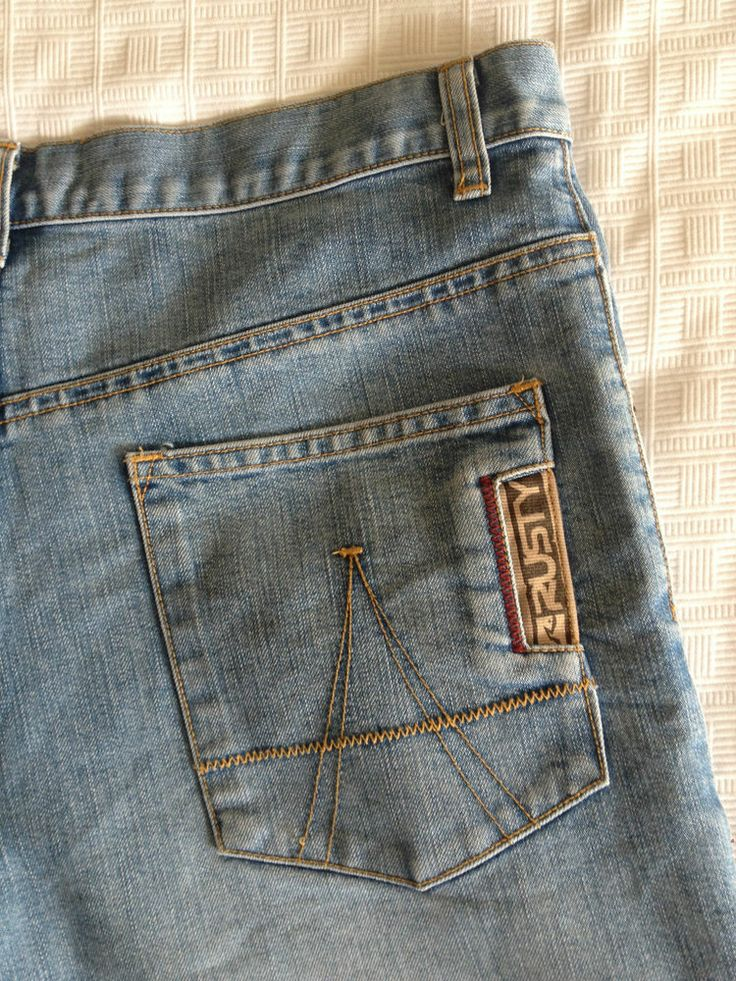Boys Teen Rusty Long Denim Shorts - Size 14 - Now Selling! Click through to go to eBay auction.