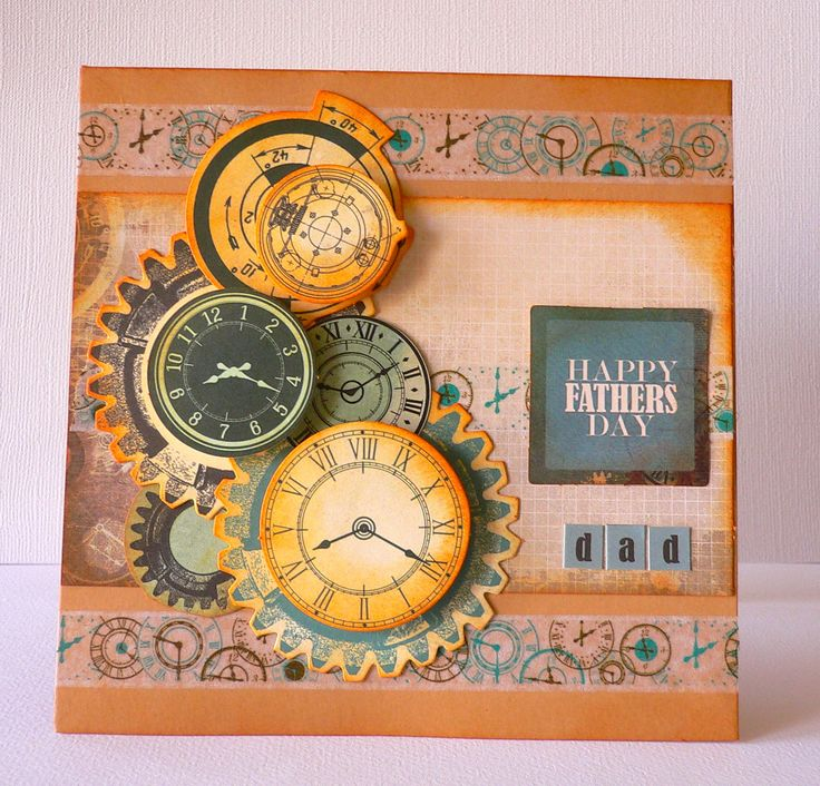 "'""Happy Fathers Day"" Card by Adriana Bolzon using Kaisercraft August 'Time Machine' Collection ~ Wendy Schultz ~ Cards 1."