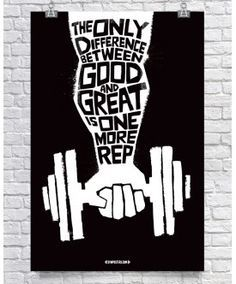 Difference Between Good & Great - Black $26.00 www.GymPosters.com/?utm_content=bufferee5c0&utm_medium=social&utm_source=pinterest.com&utm_campaign=buffer High quality, unique posters that help motivate and boost your workout. http://www.gymposters.com/?utm_content=bufferb82d9&utm_medium=social&utm_source=pinterest.com&utm_campaign=buffer Motivational Fitness Supplements,Weightlifting, Body Building
