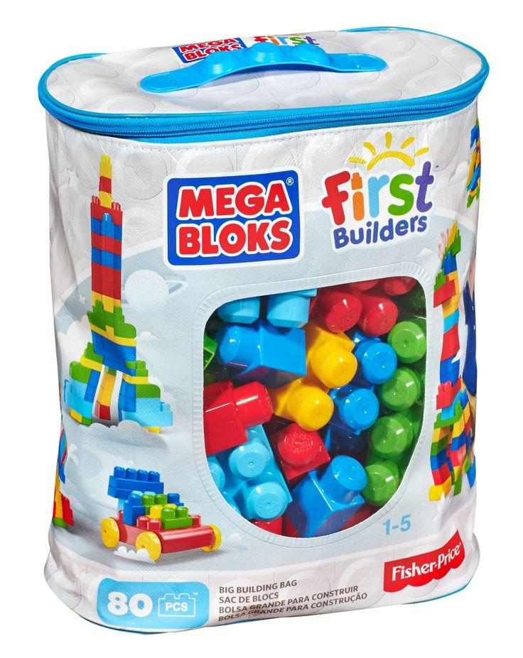 $17.97 Amazon.com: Mega Bloks First Builders Big Building Bag, 80-Piece (Classic): Toys & Games