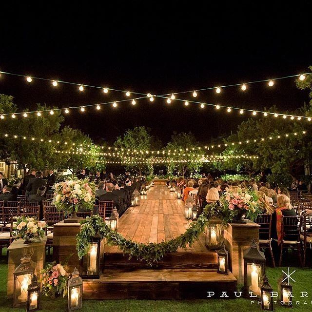 Is there anything more romantic then a beautiful outdoor wedding at nightfall? Credits to the design team of this beauty at the @ranchobernardoinn with @everafterevents, @flowersannettegomez, @platinum_pro and captured by @paulbarnettphotography. #nightwe