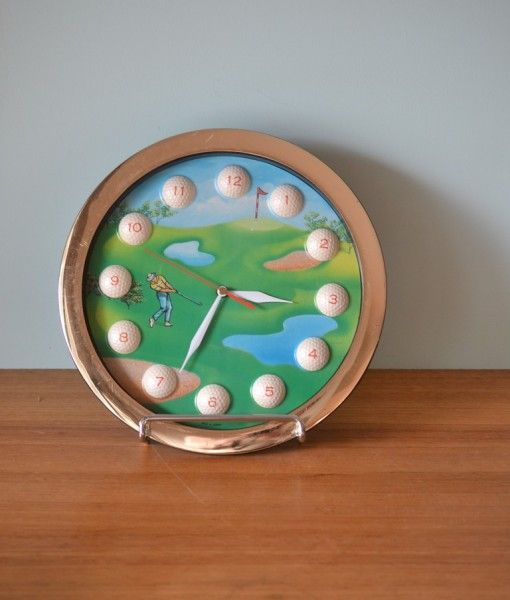 Vintage retro Golf wall clock