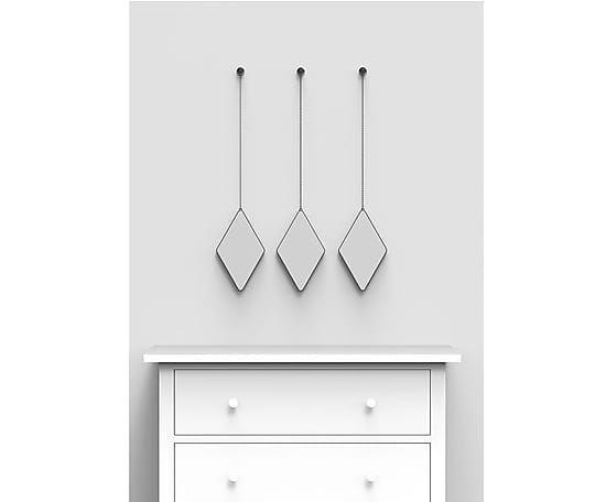 Набор из 3 зеркал декоративных Dima - стекло, 1,6х28х17 см