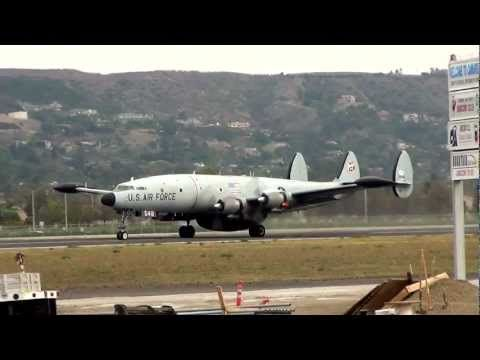 ▶ Lockheed EC-121 Super Constellation Take-off from Camarillo 1/14/12 - YouTube