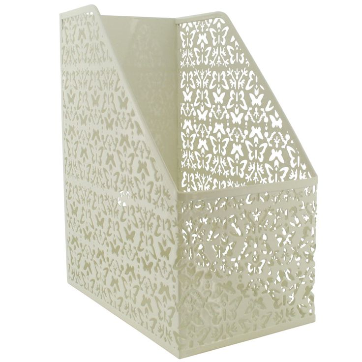 Butterfly Cream Metal Magazine File From Paperchase Home