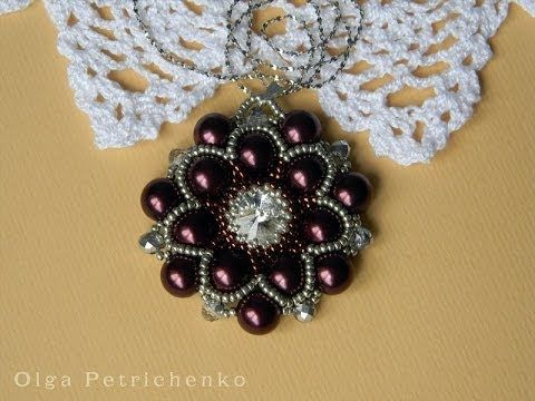 Делаем кулон из бисера и бусин. Making pendant of beads and beads. - YouTube