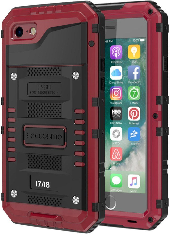 iPhone 8 Case Full Body Waterproof Cover With Screen Protector For