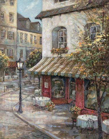 My Favorite Cafe Print by Ruane Manning at Art.com