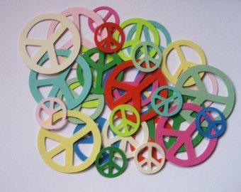 Peace-Zeichen Die Schnitte-Peace Zeichen Papier sterben Schnitte-Papier Peace-Zeichen-Peace Sign Konfetti-Peace Zeichen Einladungen-Scrapbook Supplies