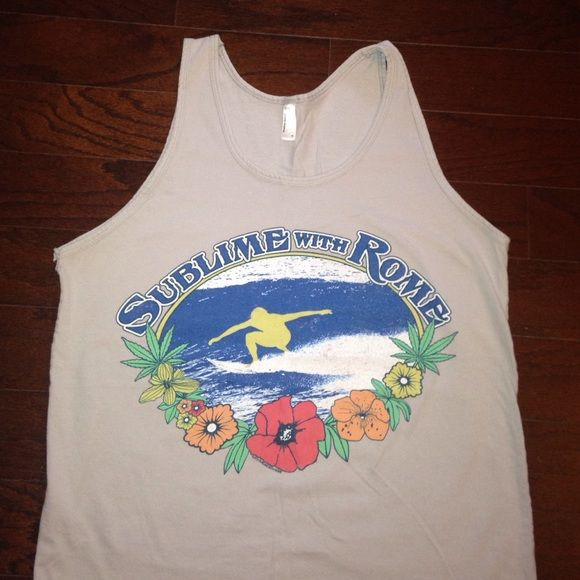Sublime with Rome Tank Worn once, American Apparel brand, purchased on Sublime w/ Rome Tour Summer 2013, great condition! American Apparel Tops Tank Tops