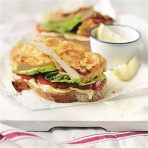 Chicken schnitzel open sandwiches recipe. A quick and easy chicken sandwich recipe ideal for a midweek meal.