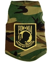 $19.95 - Your #pets can represent your #military, POW/MIA, loved ones that have served our country! We salute our #troops for everything they do 365 days a year!  Available in sizes XS-3XL at Sugar Chic Couture:  https://www.sugarchiccouture.com/SearchResults.asp?Cat=1882  #doglovers #shop #dogs #gifts #fashion #puppies #POW #MIA #camouflage #camo #army #fatigue #soldier #MemorialDay #FourthofJuly #LaborDay #USA #America #war