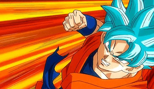 Goku SSB vs Goku SSJ4