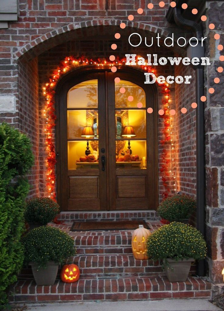 100 count strand lights halloween light or use as fall lights use these fabulous - Halloween Outdoor Lights