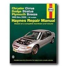 Haynes Repair Manual Chrysler Cirrus Dodge Stratus And Plymo