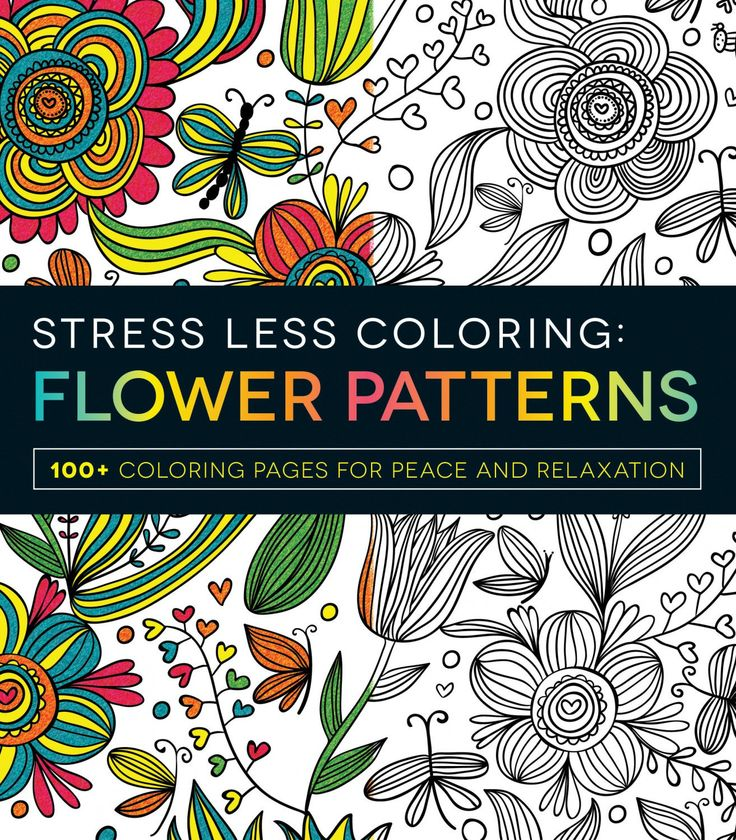 Stress Less Coloring Flowers Patterns Softcover Adult Book