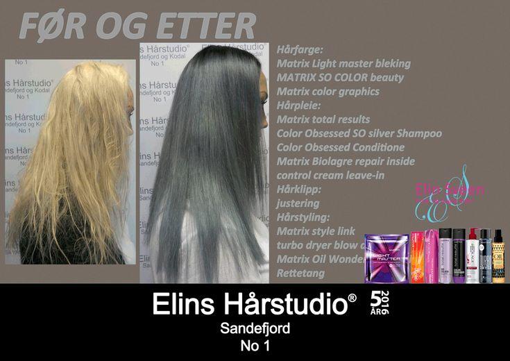 Lys blond langt hår til blue fox hårfarge