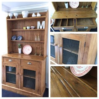 Vintage Workroom: Early Australian Pine Kitchen Dresser Refinished With  Tinted Beeu0027s ...