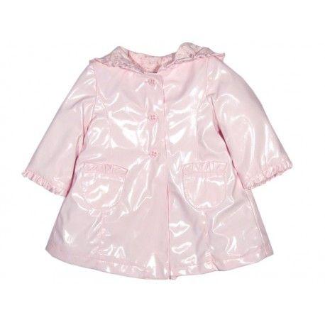 precioso diseo de abrigo para beb en charol rosa acolchado con capucha de abrigos y cazadoras