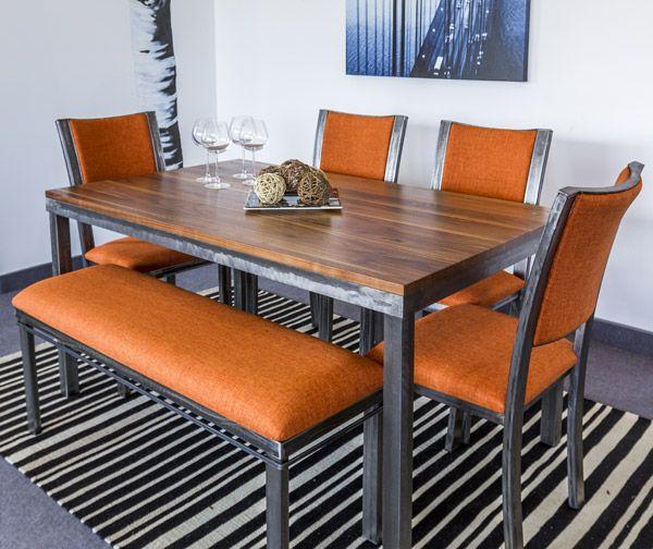 Les 25 meilleures id es de la cat gorie chaises de d ner en m tal sur pintere - Table a diner bois et metal ...
