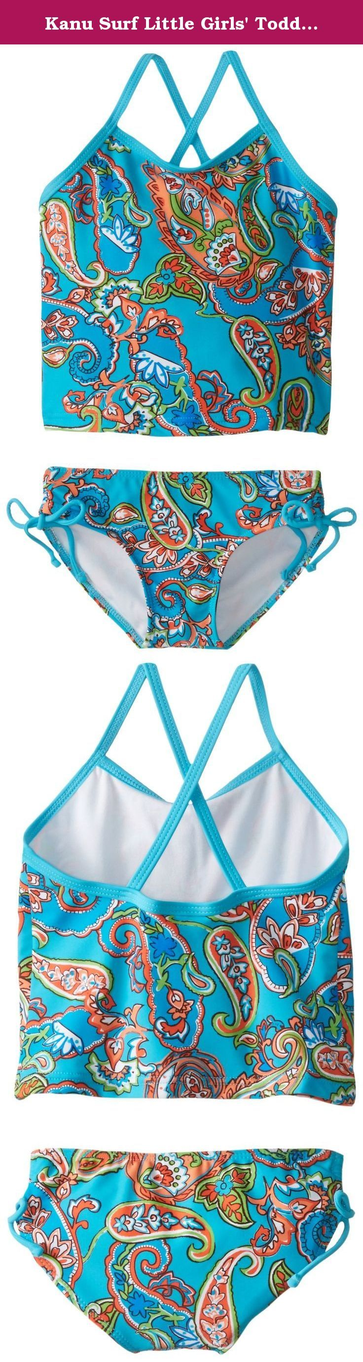 Kanu Surf Little Girls' Toddler Caroline Tankini Swimsuit, Blue, 3T. Kanu Surf presents our newest swim styles yet. Kanu, a Surf and swim lifestyle brand is well known for great prints and colors along with high quality functional apparel for the whole family. All of our swimwear is made with a high quality nylon/spandex tricot fabric and are lined both front and back. All of our prints are available in 1 or 2 piece options. Kanu swimwear is great for the active athlete as well as for the...