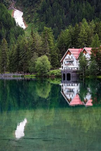 Reflections at Antholzer See in South Tyrol, #Italy #travel #travelling
