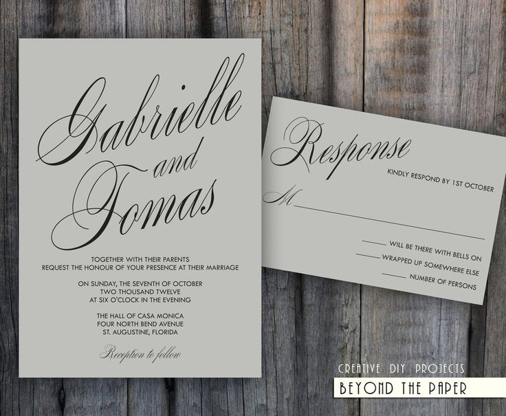 17 best invitations images on Pinterest Invites, Free printable - free downloadable wedding invitation templates