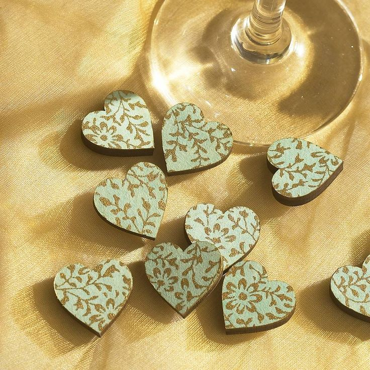 love hearts table scatter decorations by artcuts | notonthehighstreet.com
